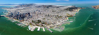 06172017 aerial panoramic - San Francisco by Pier 39 aerial photographer