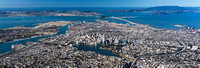 01132014 panoramic - City of Oakland with San Francisco Bay.jpg